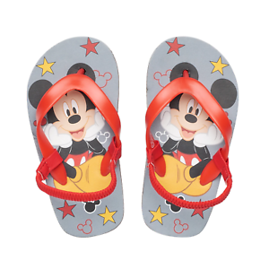 DISNEY MICKEY MOUSE Slippers w// Plush Ears Toddler/'s Size 5//6 7//8 or 9//10 NWT