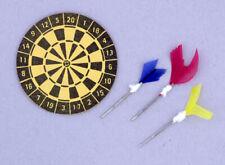 1:12 Scale Cardboard Dart Board No Darts Tumdee Dolls House Pub Bar Games Room