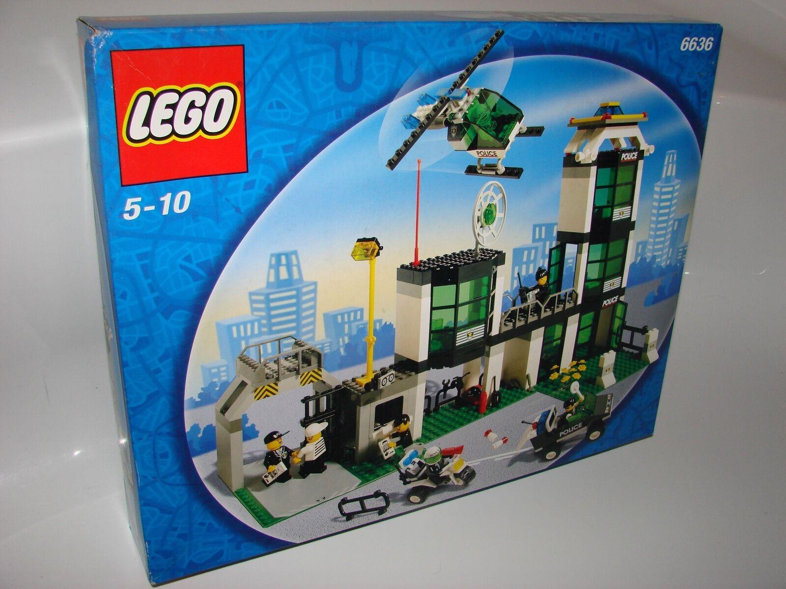 LEGO ® Town 6636 STAZIONE DI POLIZIA NUOVO Police Headquarters Command Post Central Nuovo