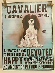 CAVALIER KING CHARLES SPANIEL ~  DOG BREED METAL SIGN~ MEDIUM  ~ NEW