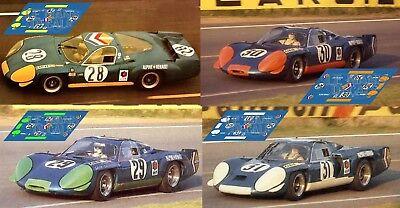 Calcas Alpine A210 Le Mans 1967 1:32 1:24 1:43 1:18 64 87 slot decals