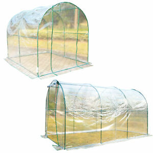 Transparent-Polytunnel-Greenhouse-Poly-Tunnel-Green-House-Steel-Frame-PVC-Cover
