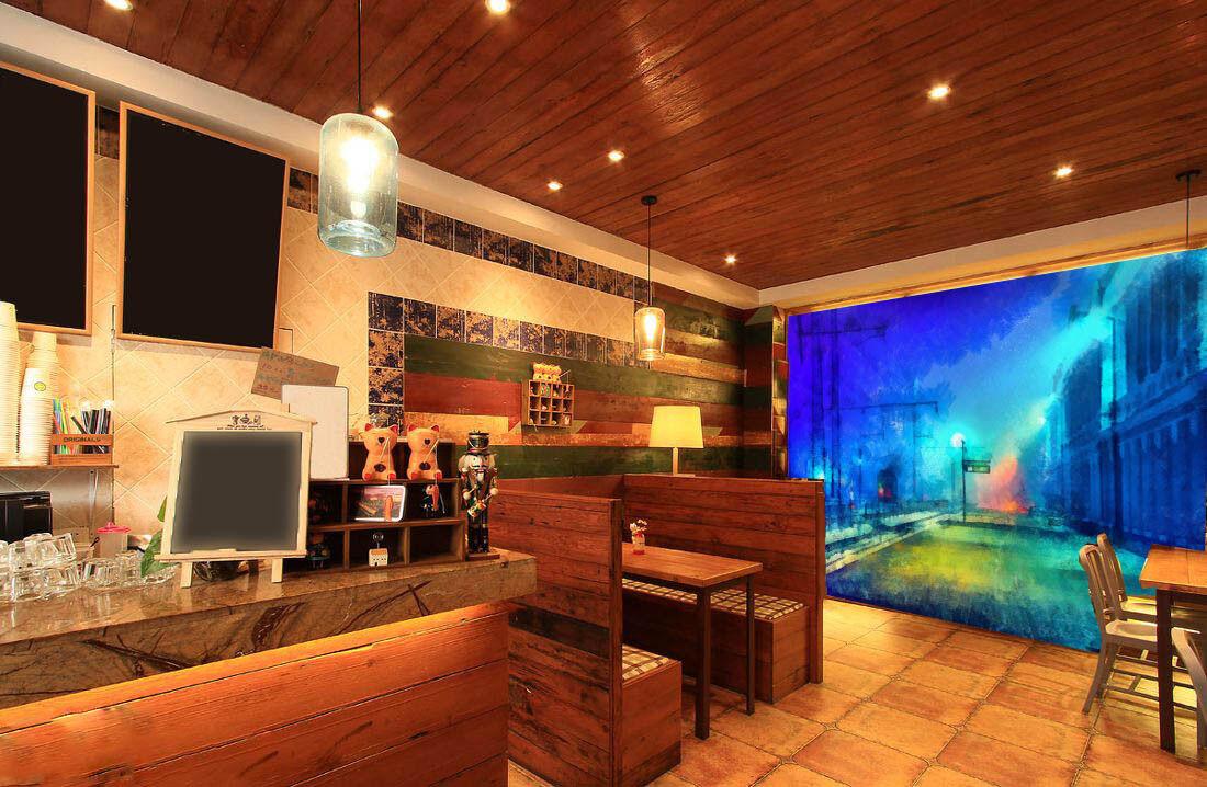 3D Nachtzug Fahrspur 73 Tapete Wandgemälde Tapete Tapeten Bild Familie DE Lemon | Exzellente Verarbeitung  | Moderner Modus  | Langfristiger Ruf