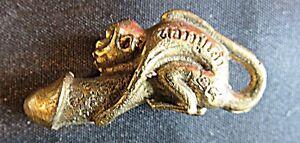 Buddhistisches Fruchtbarkeitssymbol,bronze Diversifiziert In Der Verpackung Sparsam Affe Auf Phallus