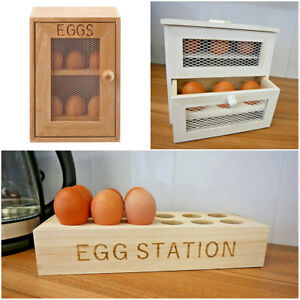 Details About Shabby Chic Rustic Style Egg Holders Wooden Egg Racks Rustic Egg Storage Box