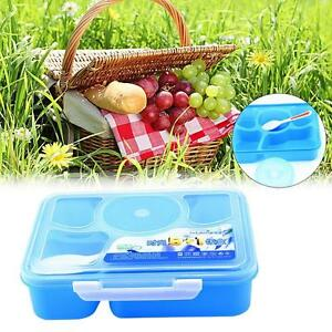 Image Is Loading Microwave Bento Lunch Box Spoon Utensils Picnic Food
