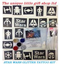 Brillo Tattoo Kit Star Wars De 40 Plantillas reluce Pegamento Reino Unido realizó Co Calidad