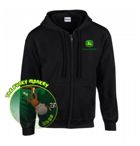 Small up to 5XL* JOHN DEERE ZIP HOODED SWEATSHIRT GD58
