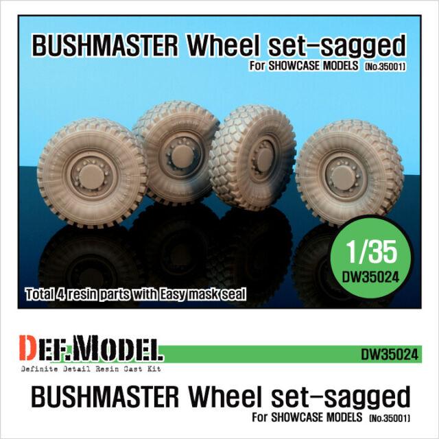 DEF Model 1/35 Australia IMV Bushmaster Sagged Wheels for Showcase Models 35001
