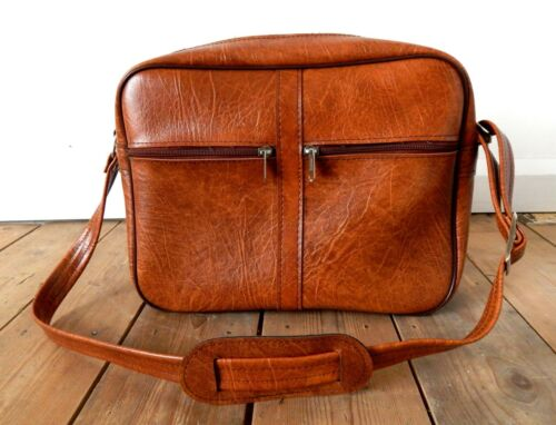 Vintage Tog Tote Flight Bag Travel Case Mid Century - Brown - Retro #B