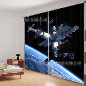 Espacio 3D 739 Cortinas de impresión de cortina de foto Blockout Tela Cortinas Ventana Reino Unido