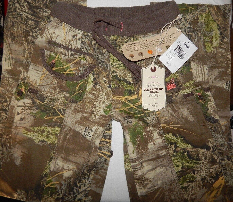 Womens Real Tree Girl Pants XS Camo Max 1 Congreenible Capri Pull On Green Brown