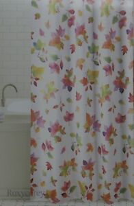 Image Is Loading Autumn Fall Harvest Falling Leaves Fabric Shower Curtain