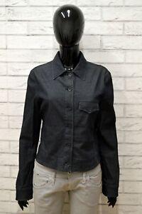 Giacca-Blu-Denim-Donna-ARMANI-JEANS-Taglia-Size-44-Giubbino-Jacket-Woman