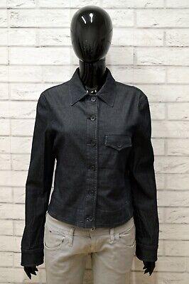 Giacca Blu Denim Donna Armani Jeans Taglia Size 44 Giubbino Jacket Woman