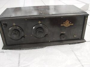 1920-039-s-Tube-Radio-USL-Broadcast-Receiver-4-of-5-301A-amp-201A-Tubes-Wood-Cabinet