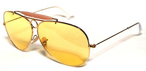 b1e7041e24 RAY BAN 3138 62 SHOOTER GOLD GOLD YELLOW YELLOW AMBERMATIC ...