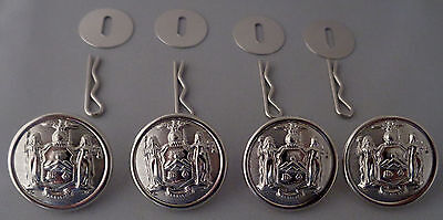 4 Louisiana STATE SEAL MIRRA BRIGHT Uniform Buttons LARGE Pins//Washers LA police