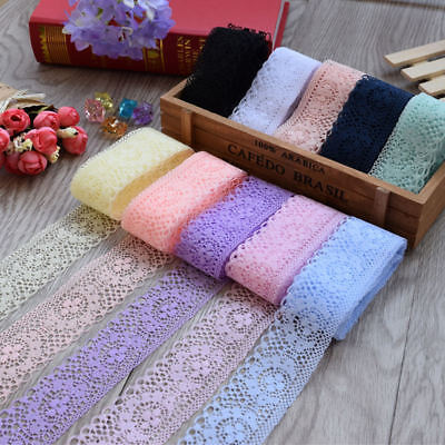 Lace Ribbon 40MM Lace Trim DIY Embroidered For Sewing Decoration 10 Yards