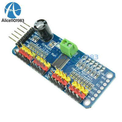 Aideepen 2pcs PCA9685 16-Channel 12-bit PWM//Servo Motor Drive Shield Module I2C for Arduino Robot