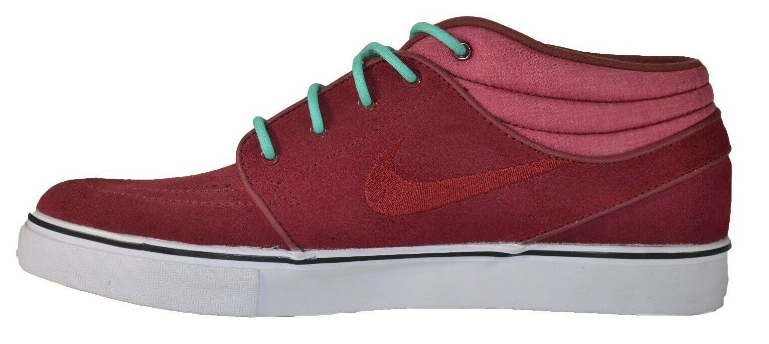 Nike ZOOM STEFAN JANOSKI MID Team Red Crystal Mint Discounted (235) Men's shoes