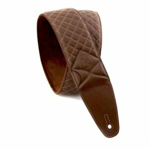 Sangle-Courroie-Cuir-D-amp-A-Guitar-Gear-Quilted-Leather-Strap-BurlywoodBrown-CS-DnA