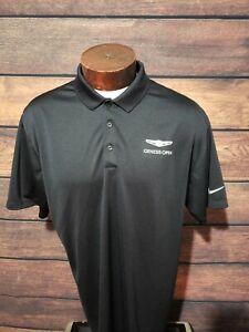 Nike-Dri-Fit-Mens-XL-Extra-Large-Black-Genesis-Open-Short-Sleeve-Golf-Polo-Shirt