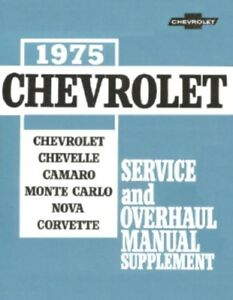 1971 Chevy CD Shop Manual Camaro Corvette Chevelle El Camino Monte Carlo Nova