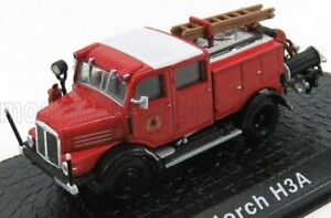 EDICOLA 1/72 HORCH   TLF15 H3A TANKER TRUCK FIRE ENGINE 1952   RED BLACK WHITE