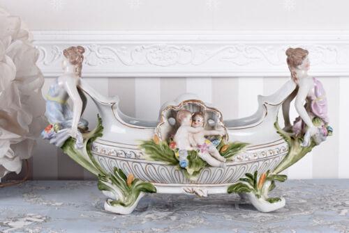 Prunkgefäss Antik Porzellan Schale Shabby Chic Jardiniere Vintage Obstschale