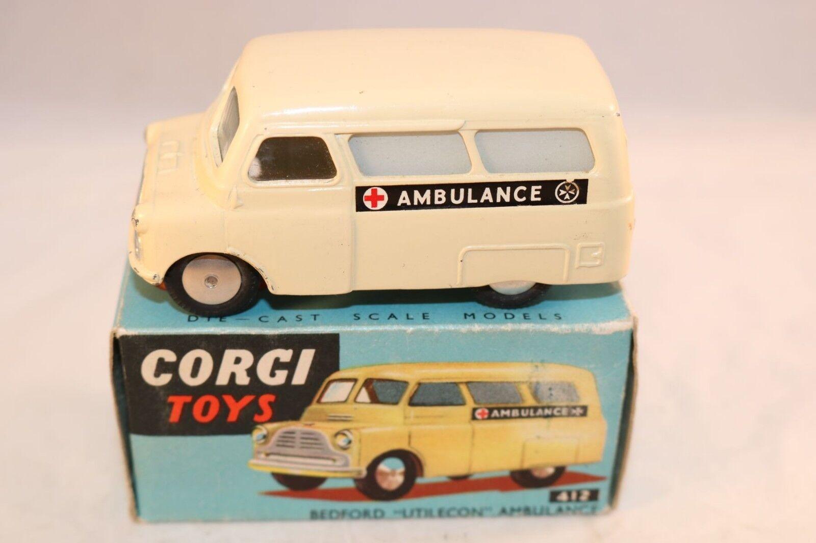 Corgi Toys 412 Bedford  Utilecon Ambulance very near mint in box