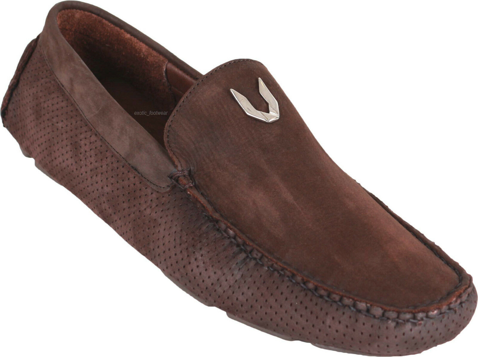 Men's Vestigium Genuine Suede Leather Casual Loafer Slip On shoes Handmade