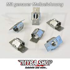 5x Protezione Dispositivi di protezione posteriori metallo clip morsetto riparazione per Peugeot Citroen Nuovo