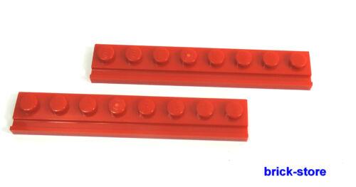 LEGO® Nr- 6078594 / 1x8 Platten mit Führungsschiene rot  / 2 Stück