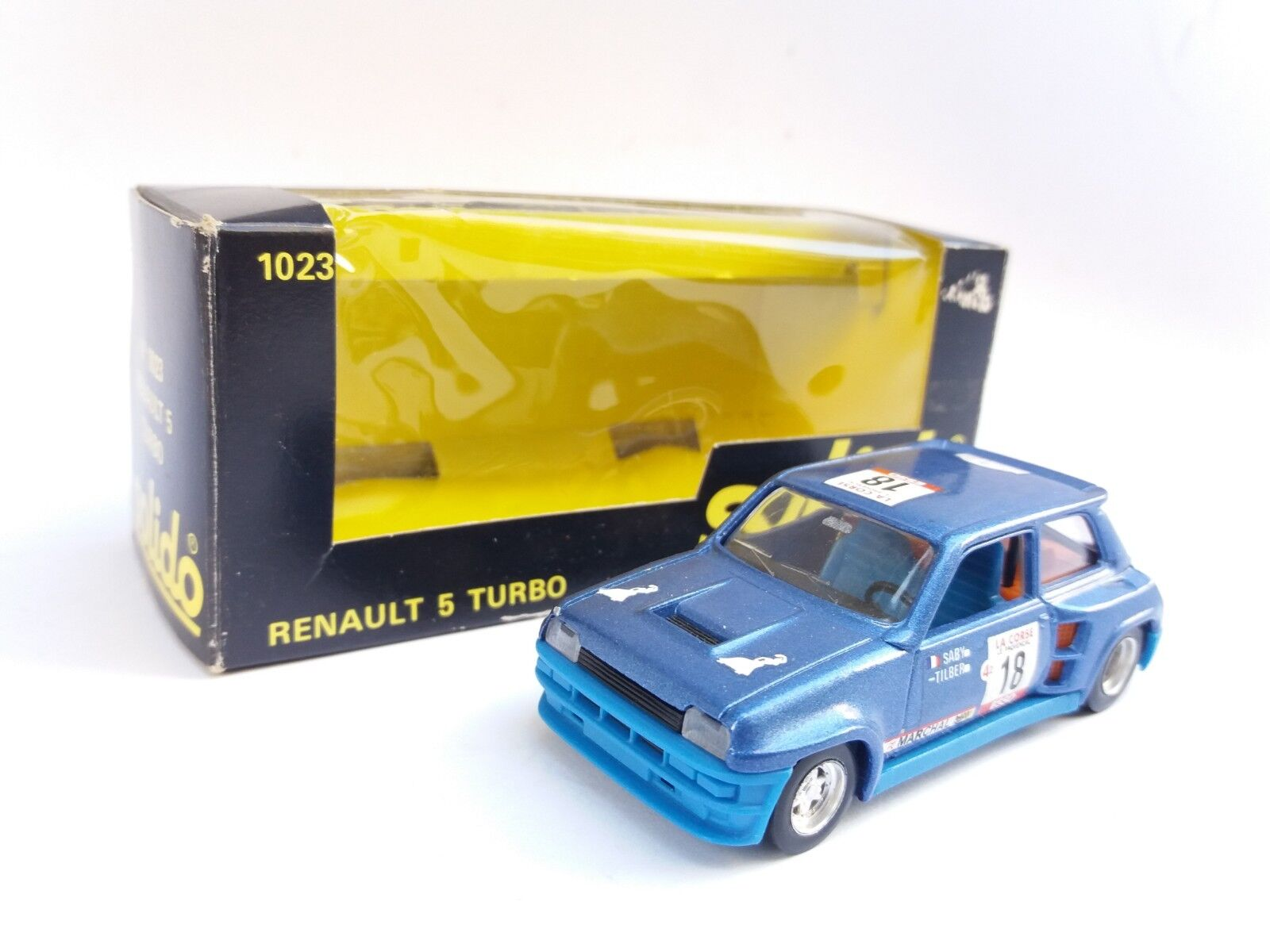 N.O.S VINTAGE RENAULT 5 TURBO SOLIDO TOY 1023