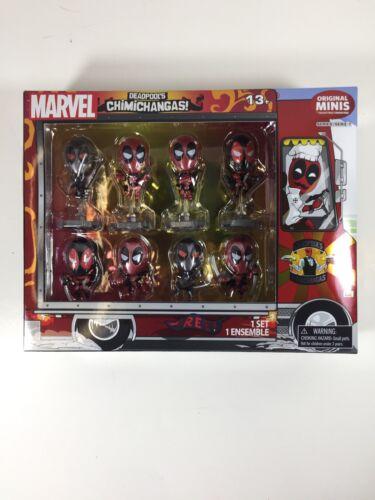 NEW Exclusive-Deadpool-Metallic-Chrome-Figure-Set-of-8-Chimichanga-Truck-Package