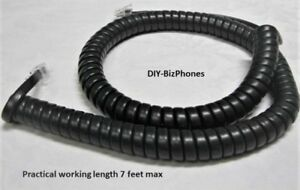 Pack/Lot of 10 Dark Gray 12' Handset Cord Panasonic Phone KXT7600 KXT7700 Series