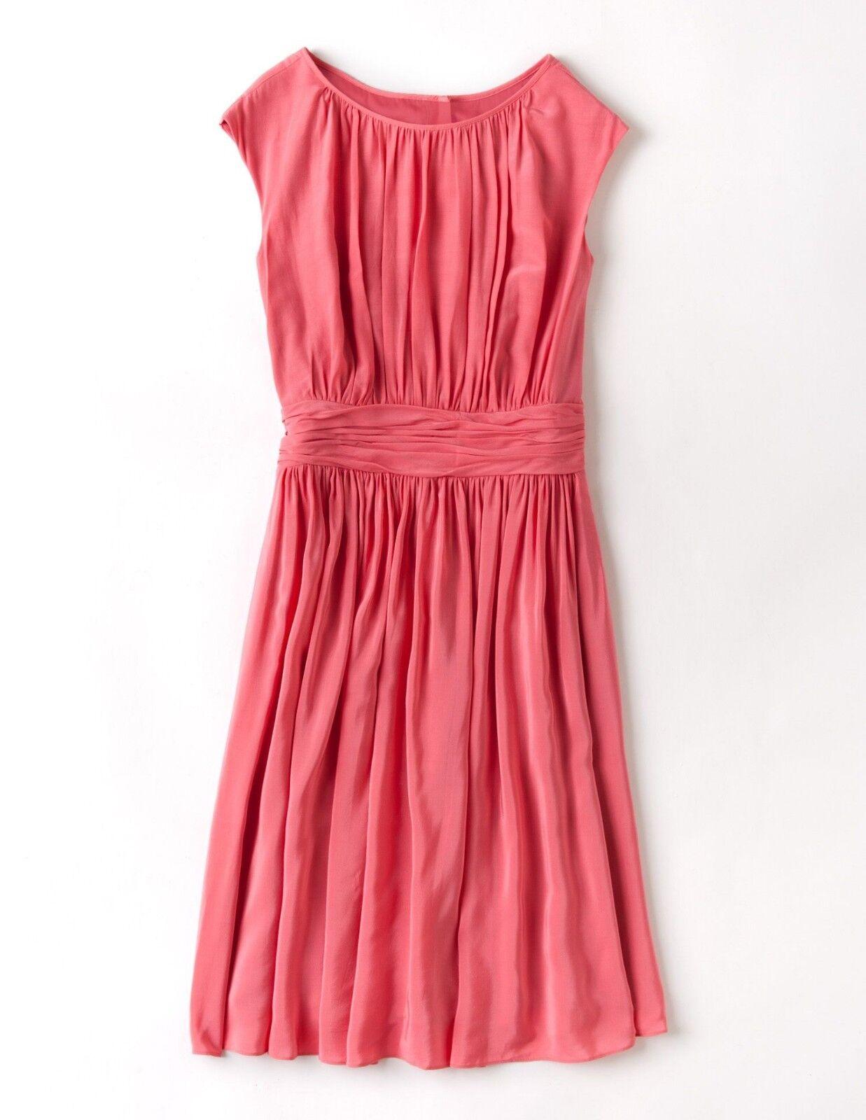 f14f94732f2760 BODEN damen CARNATION SALMON Rosa DRESS -UK 18- 'SELINA' PLEATED  npfdrg2133-Kleider