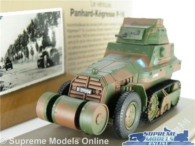 PANNARD KEGRESSE P -16 modellllerL TANK 1 43 SKALE MILITÄRA ARMIN GRÖN ATLAS IXO WWII K