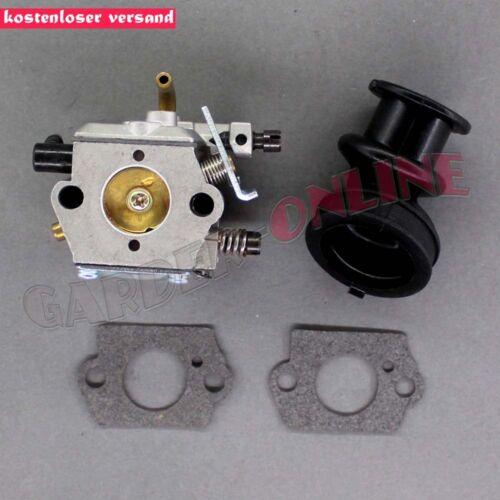 Vergaser /& Ansaugstutzen für Walbro WT-194 Stihl 024 026 024AV 024S MS240 MS260