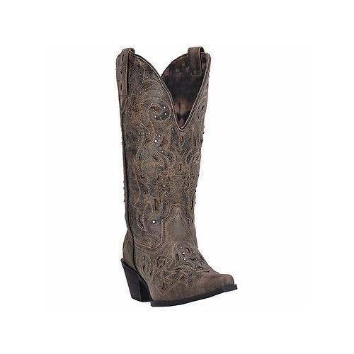 Larojoo 52050 52050 52050 Vanessa 12  gris Topo & ancho negro botas Pantorrilla SNIP Toe Vaquera  promociones de descuento