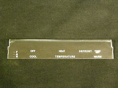 71-73 Mustang//Cougar Heater Only Climate Control Faceplate