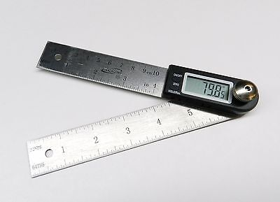 "4"" Digital Electronic Angle Finder Protractor & Rule 7"" Long Pocket Goniometer"