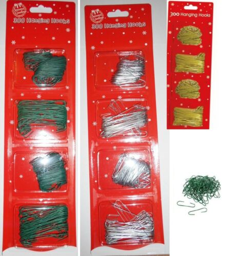 300 MIX HANGING HOOKS FOR CHRISTMAS XMAS TREE DECORATION CARD BAUBLES BALL 9626