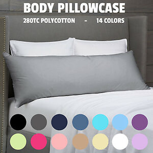 280TC Multicolor Luxury Body Full Long Pillow Case Slip Cotton Blend 150x48 cm