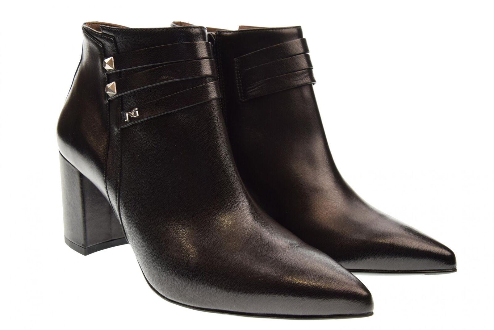 black Giardini A18us women's ankle boots shoes with heel A806911DE   100