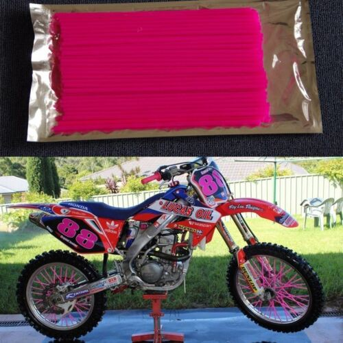 72Pcs Spoke Wrap Kit 4 BMX Mountain Bike Bicycle MTB Wraps Skins Covers AU