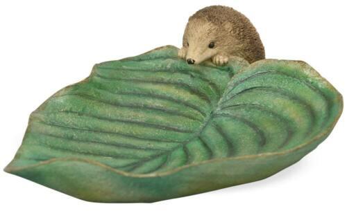 Vogeltränke Riccio Vogelbad FODERA GUSCIO arte pietra verde Gartendeko 1 pezzi 33 cm