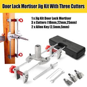 Image is loading Mortice-Door-Fitting-Jig-Lock-Mortiser-DBB-Key-  sc 1 st  eBay & Mortice Door Fitting Jig Lock Mortiser DBB Key JIG1 With 3 Cutters ...