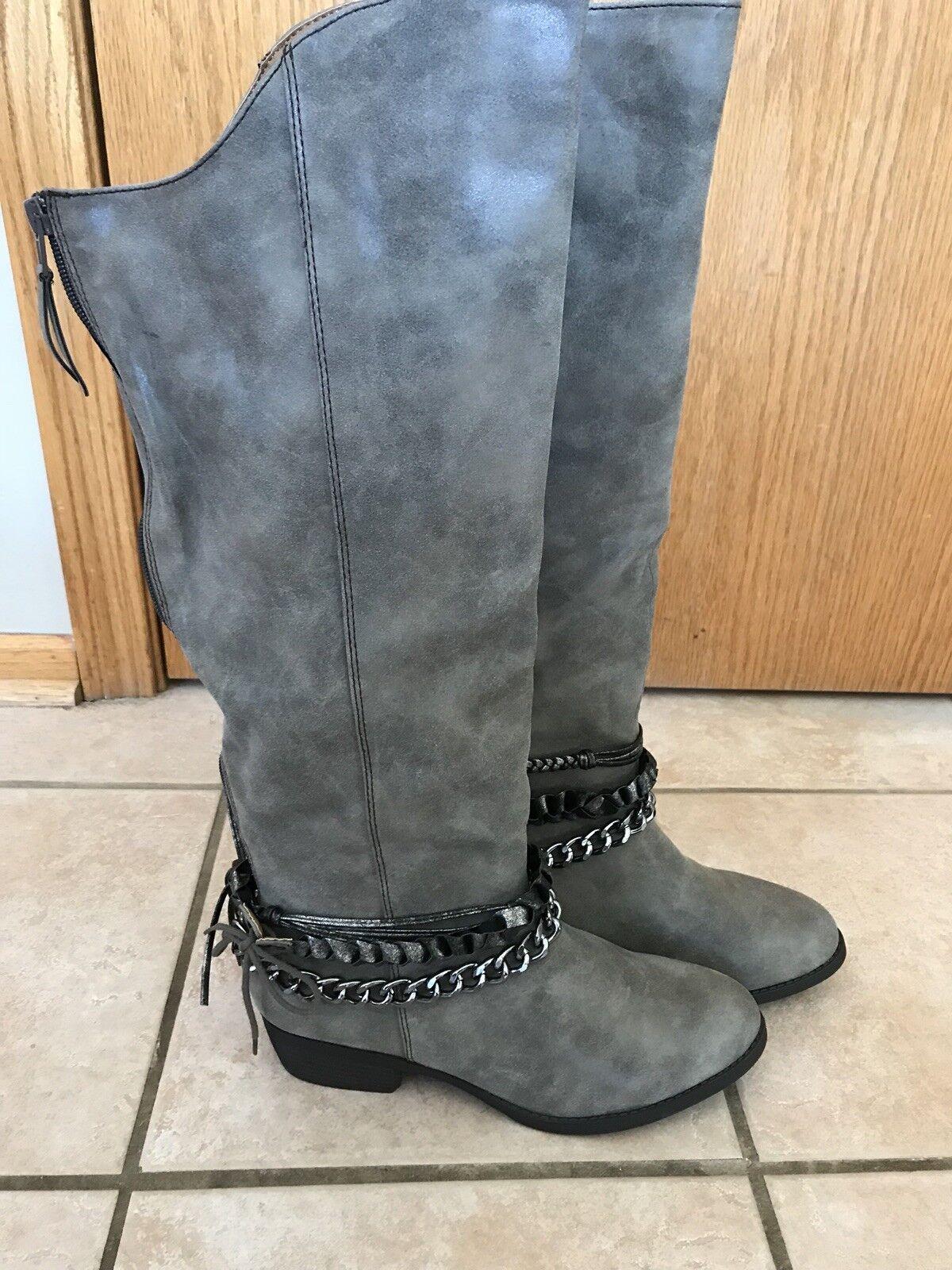 Mujer Hebilla Suela jeselyn botas talla 10